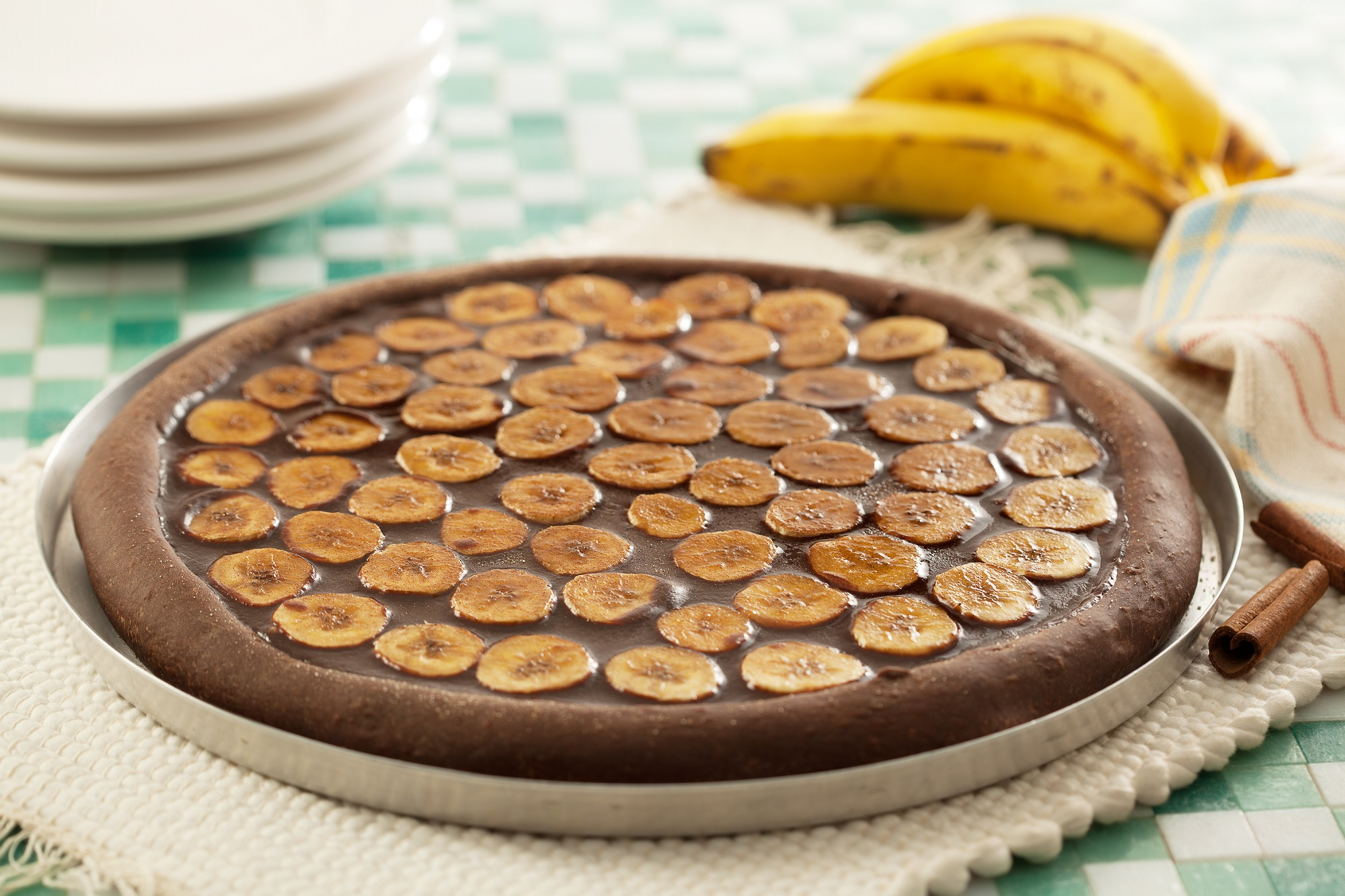 pizza de banana com chocolate1